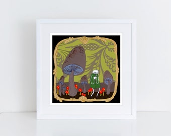 the Mushroom Forest - PRINT