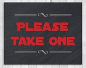 Custom Printable Please Take One 8x10 Star Wars Inspired Black and White and Red Wedding Sign RESERVED FOR AMANDA