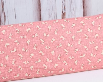 Lecien Retro 30's Childs Smile Pink Bunnies Quilting Fabric 1 yard, 31280L-20