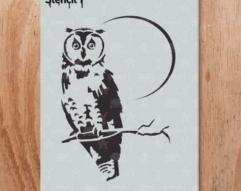 Owl Stencil- Reusable Craft & DIY Stencils- S1_01_56 -8.5x11- By Stencil1