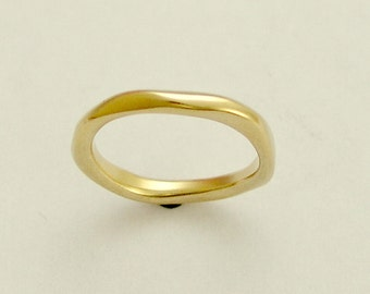 Wedding band, 14k gold ring, yellow gold ring, UNISEX ring, stacking ring, gold stacking band, wedding ring, gold band,  -Ensemble RG1593