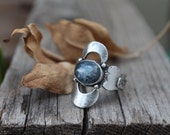 SZ 7.5 - Reflections Ring - Sterling Silver and Kyanite Ring