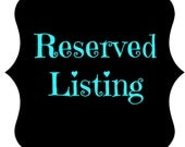 Reserved Listing - Jas