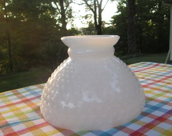 Vintage Milkglass Lampshade - Kerosene/ Oil Lamp Lampshade