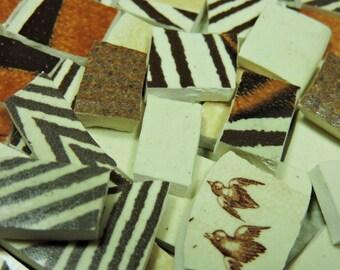 China Mosaic Tiles - Vintage Stoneware Tiles - Hand Cut Mosaic Tiles