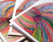 Greeting Cards Handmade from Watercolor Yarn Painting