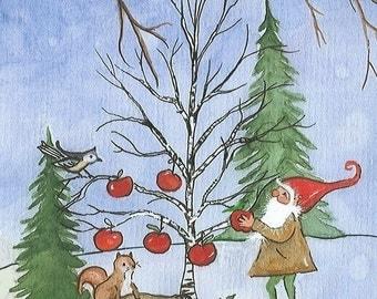 Custom Card Package Tomte Nisse Gnome Elf Yule