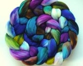 Hand Dyed roving for spinning or felting 3.5ozs  merino ready to ship