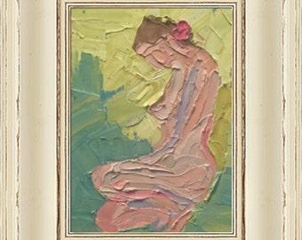 Modern decor, Impressionism,nude, figure,Oil Painting,Original