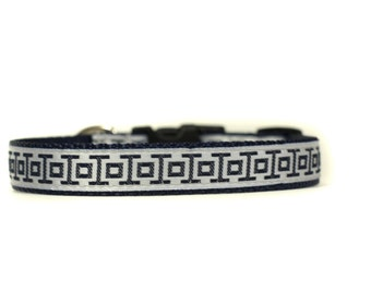 5/8 or 3/4 Inch Wide Dog Collar with Adjustable Buckle or Martingale in Midway