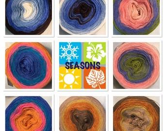 3-ply gradient tied cotton 100g light fingering Seasons series