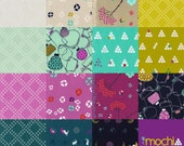 Complete Mochi by Rashida Coleman Hale - Fall 2014 Cotton and Steel Fabric  - Charm Square Pack of 15