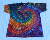AFRICAN SUN Adult Cotton  Heavyweight Made in USA Tie-dyed T-shirt
