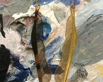 SHROUD feather earrings
