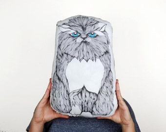 Smush-Face Kitty Pillow