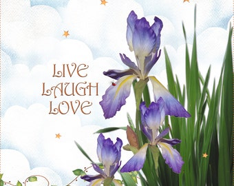 "Iris - Live, Laugh, Love 10"" x 12"" Art Panel"