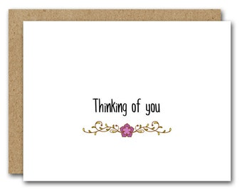 PRINTABLE Thinking Of You Card, INSTANT DOWNLOAD, Friend Card, Friendship Card, Sympathy Card, Support Card