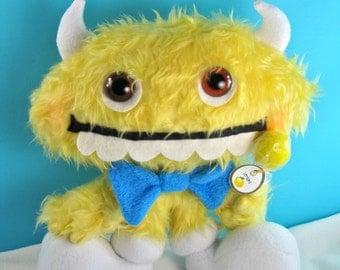 Soft Sculpture Lemonheads Candy Monster Plush Art Doll Toy