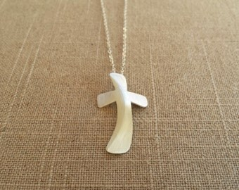 Sterling Sliver Handmade, Long Cross Necklace