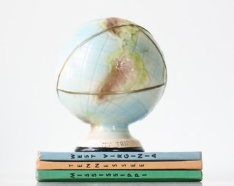 "Vintage Globe Bank, ""For My Trip"""