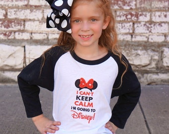I Can't Keep Calm I'm Going to Disney Baseball Style Shirt