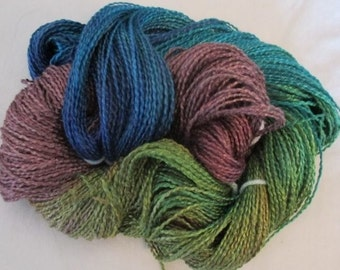 Handpainted Soft Rayon Roving Yarn    PARIS - 270 yds.