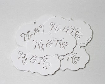 Mr. and Mrs. Gift Tags-Thank You Tags-Gift Tags-Paper Tags-Mr. and Mrs. Tags-Wedding Tags-Mr. and Mrs. Wedding Tags-Bridal Shower Tags