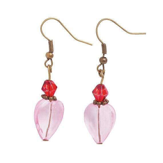 Vintage-Look Crystal Heart Earrings