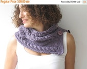 CLEARANCE 50% SALE Purple Cowl - Scarf by Afra