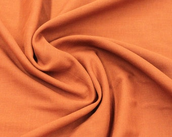 Cotton Lawn in Rust - 1 yard - Cotton Fabric / Fabric by Yard / New Fabric / Sewing Supplies / Lawn / Lawn by Yard