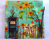 Mixed Media, Garden, collage - Beautiful Day