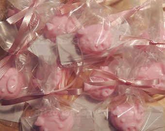 100 Mini Piggy Soaps - Indivdually Wrapped - Baby Shower - Birthday - Party Favor