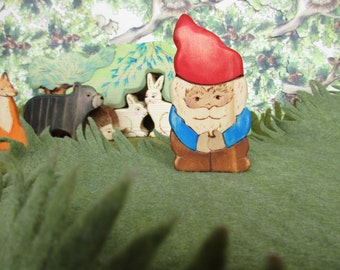 Toy Gnome  - Waldorf natural wood toys Dolls & Action Figures Miniature Toys