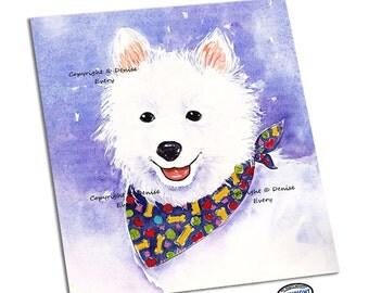 American Eskimo Dog Art Print Eskie Art American Eskimo Dog Lover American Eskimo Dog Gift ACEO dog lover fun dog art ACEO art Denise Every