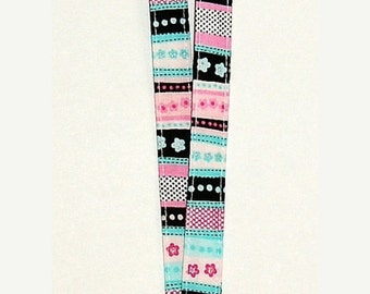 SALE - Polka Dots and Flowers and Stripes - Lanyard