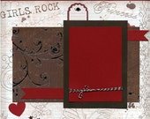 Girls Rock - 12x12 Premade Scrapbook Page