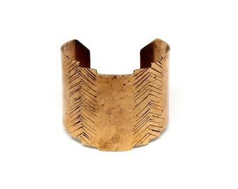 Brass Temple Cuff