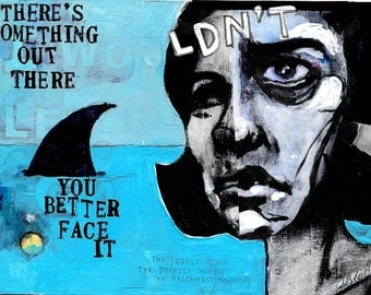 Face It original art by mixed media artist Juliana Coles