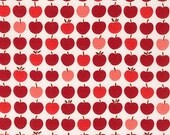 SALE fabric, Scarf fabric, Lightweight fabric, Gift for Teacher,  LAWN fabric by Robert Kaufman- Liberty Lawn Apples in Red- Choose your cut