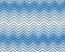 SALE fabric, 6 dollars/yard, Chevron fabric, Blue fabric, Boy fabric by Erin Mcmorris- Wave Hill in Periwinkle, Free Shipping Available
