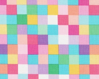 Plaid Fabric, Remix Fabric, Cotton Fabric, Spring fabric, Easter Fabric, Kaufman, Plaid in Sweet- Choose your cut, Free Shipping Available