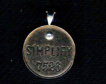 Handmade Cold Connection Simplify Pendant Charm Antique Silver