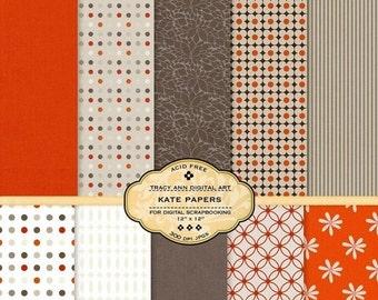 Digital Paper pack for invites, card making, digital scrapbooking - Kate