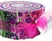 "Benartex Soho Calicos Pink Pinwheel 2.5"" Precut Fabric Quilting Cotton Strips Jelly Maggie & Flos"