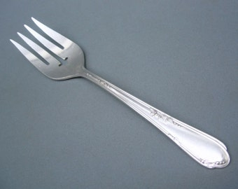 Silverplate Cold Meat Fork-PERFECT-Meadowbrook Heather by Wm. Rogers/Oneida-No Plate Loss, Dents or Dings