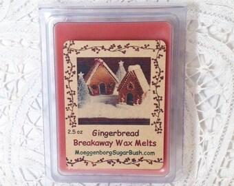 Wax Melts, Gingerbread, bakery scented wax tart melts, clamshell tarts, teacher gift, Moeggenborg Sugar Bush, gingerbread candle melts