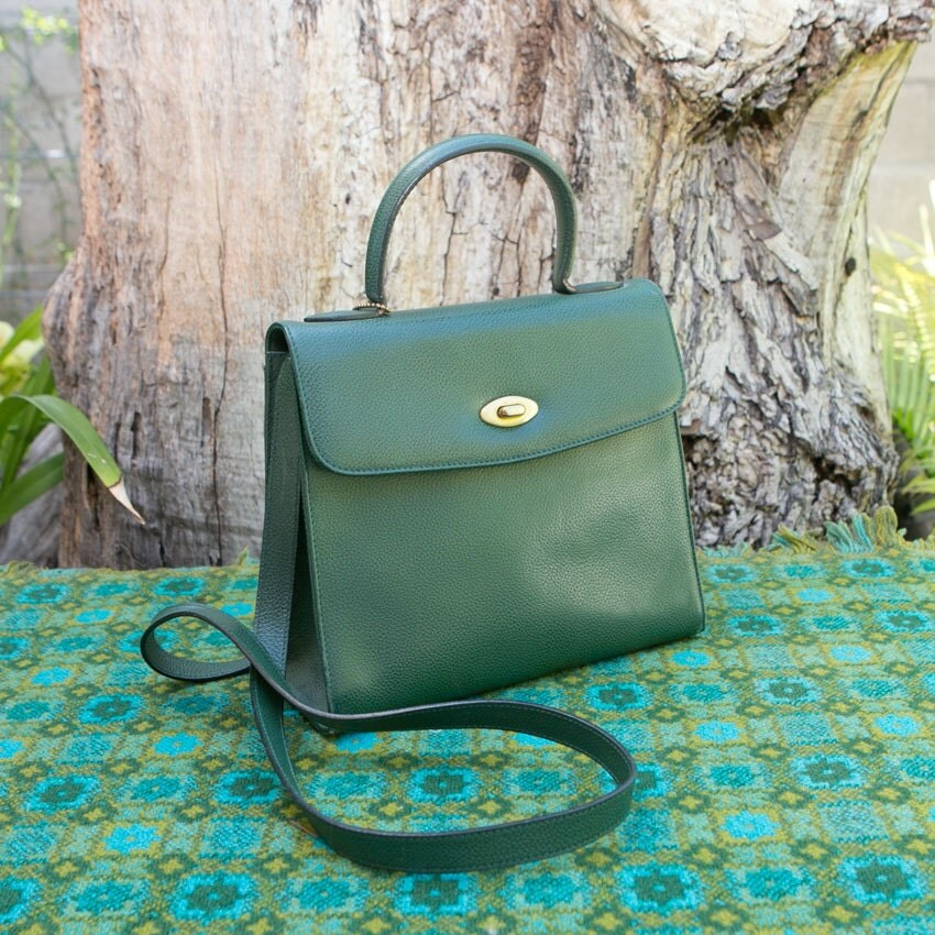 Vintage Coach Kelly Green Madison Kelly Leather Bag Purse