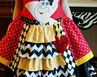 Queen of Hearts Ruffle Dress Sizes 2-12