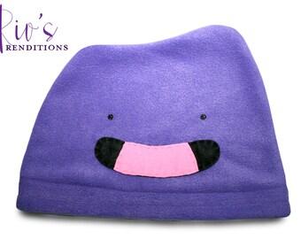 Pokemon Ditto Hat / Fleece Hat / Winter Hat / Pokemon Hat / Pokemon Fleece Hat / Video Game Characters