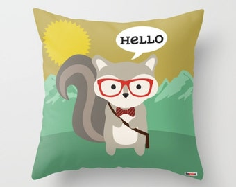 Pillow cover - Pillows for kids - Woodland creatures pillow - nursery pillow cover - Cute pillows